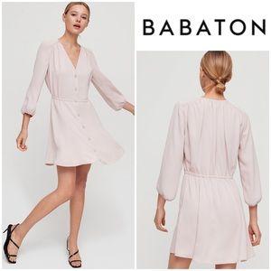 Aritzia Babaton Day Dress in Camille (beige blush)